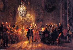 Adolph Menzel - The Flute Concert of Fred..
