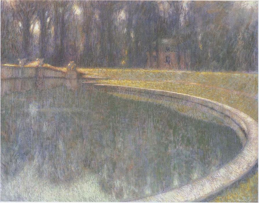 Fountain of Neptune in Versailles, Oil On Canvas by Henri Eugène Augustin Le Sidaner (1862-1939, Mauritius)
