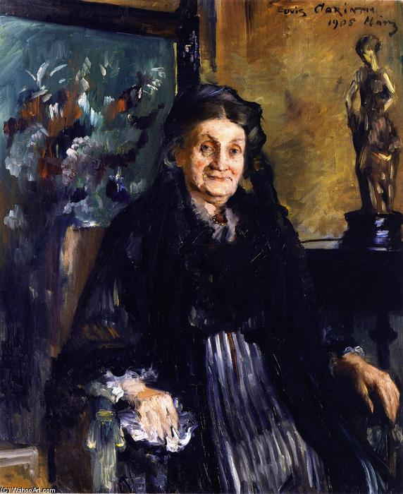 Frau Marie Moll, Oil On Canvas by Lovis Corinth (Franz Heinrich Louis) (1858-1925, Netherlands)