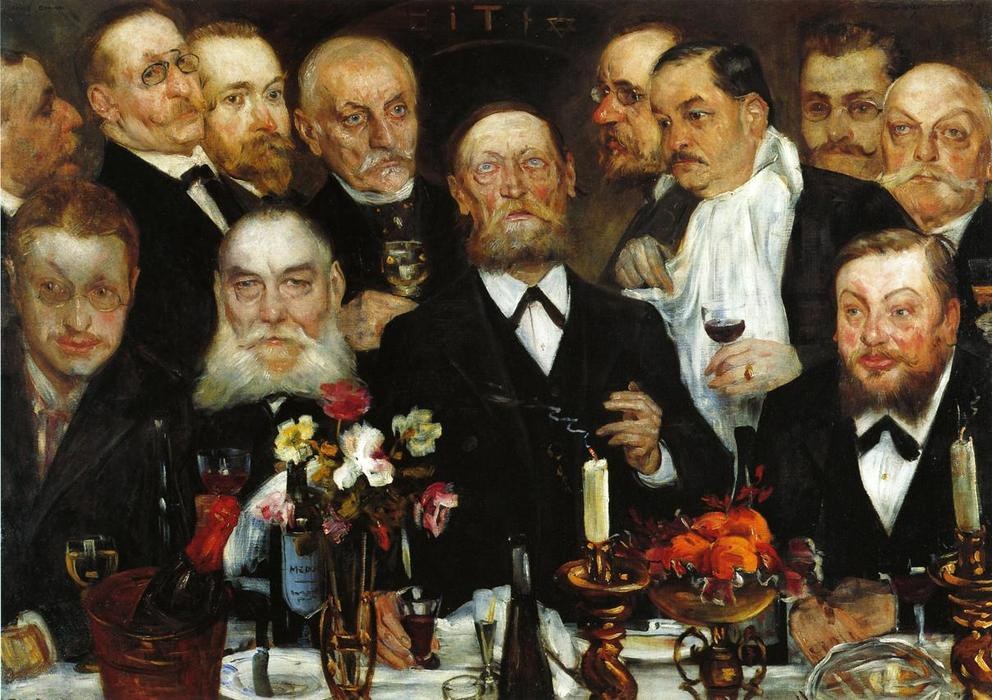 The Freemason's (also known as Firm in Loyalty), Oil On Canvas by Lovis Corinth (Franz Heinrich Louis) (1858-1925, Netherlands)