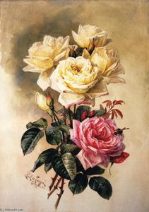 Paul De Longpre - French Bridal Roses