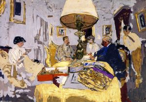 Jean Edouard Vuillard - Friends around the Table