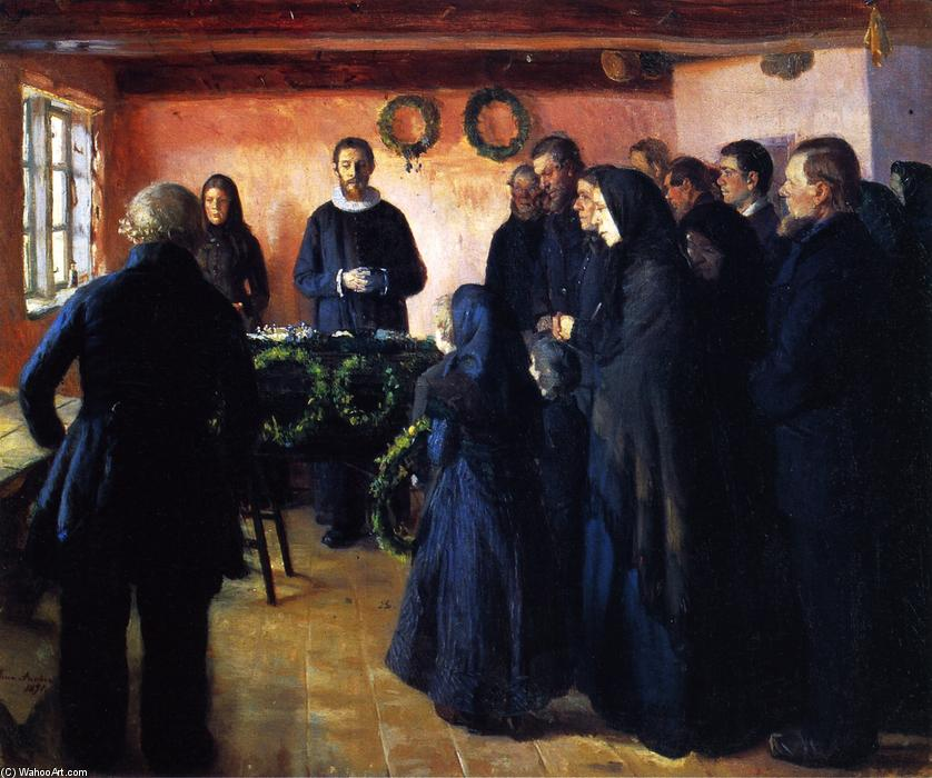 A Funeral, 1891 by Anna Kirstine Ancher (1859-1935, Denmark) | Painting Copy | ArtsDot.com