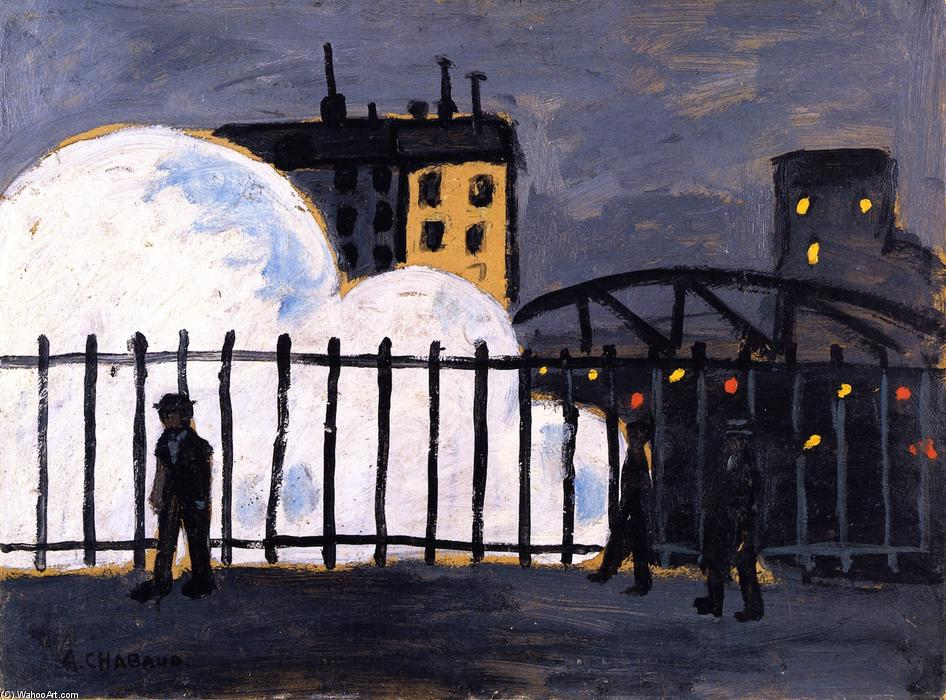 Gare du Nord, Oil On Panel by Auguste Chabaud (1882-1955, France)