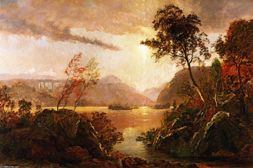 Gates of the Hudson, Oil On Canvas by Jasper Francis Cropsey (1823-1900, United States)