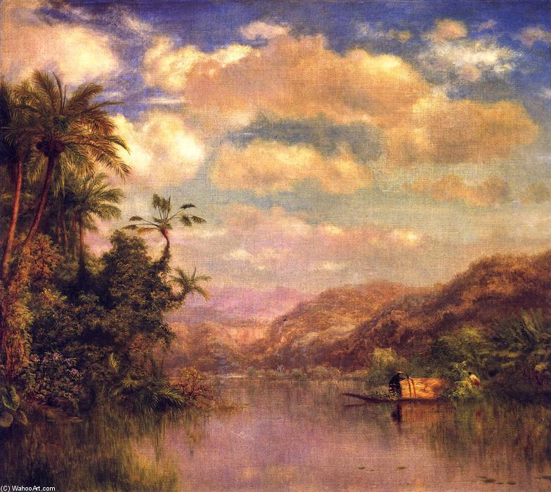 Gathering Plantains, Guayaquil Ecuador, 1866 by Louis Remy Mignot (1831-1870, United States) | Oil Painting | ArtsDot.com