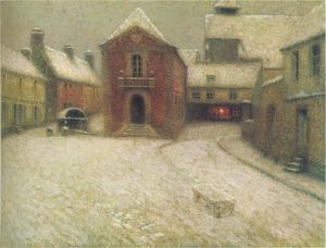 Henri Eugène Augustin Le Sidaner - Gerberoy in the snow