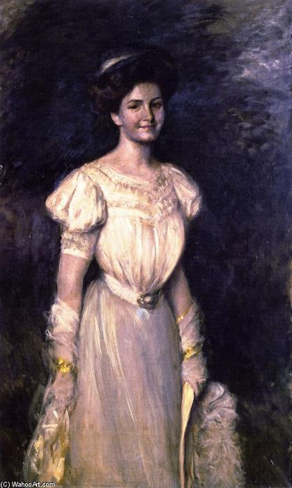 Girl in White, Oil On Canvas by William Merritt Chase (1849-1916, United States)