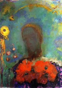 Odilon Redon - Girl with Poppies