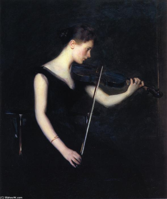 Girl with Violin (also known as The Violinist), 1890 by Edmund Charles Tarbell (1862-1938, United States) | Museum Quality Reproductions | ArtsDot.com