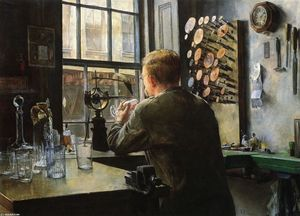 Charles Frederic Ulrich - The Glass Engraver
