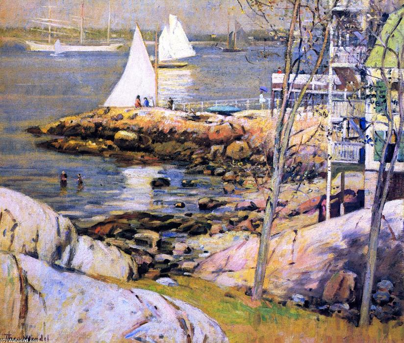 Gloucester Harbor, 1905 by Theodore Wendel (1859-1932) | Art Reproduction | ArtsDot.com