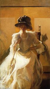 Edmund Charles Tarbell - The Golden Screen