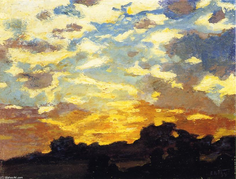 Golden Sunset by Edward Henry Potthast (1857-1927, United States) | Paintings Reproductions Edward Henry Potthast | ArtsDot.com