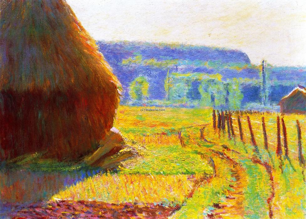 Grainstacks, Giverny, 1897 by Theodore Earl Butler (1861-1936, United States) | Museum Art Reproductions | ArtsDot.com