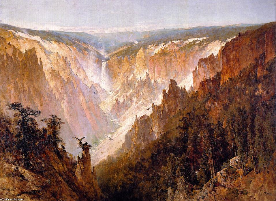 The Grand Canyon of the Yellowstone, Oil On Canvas by Thomas Hill (1829-1908, United Kingdom)