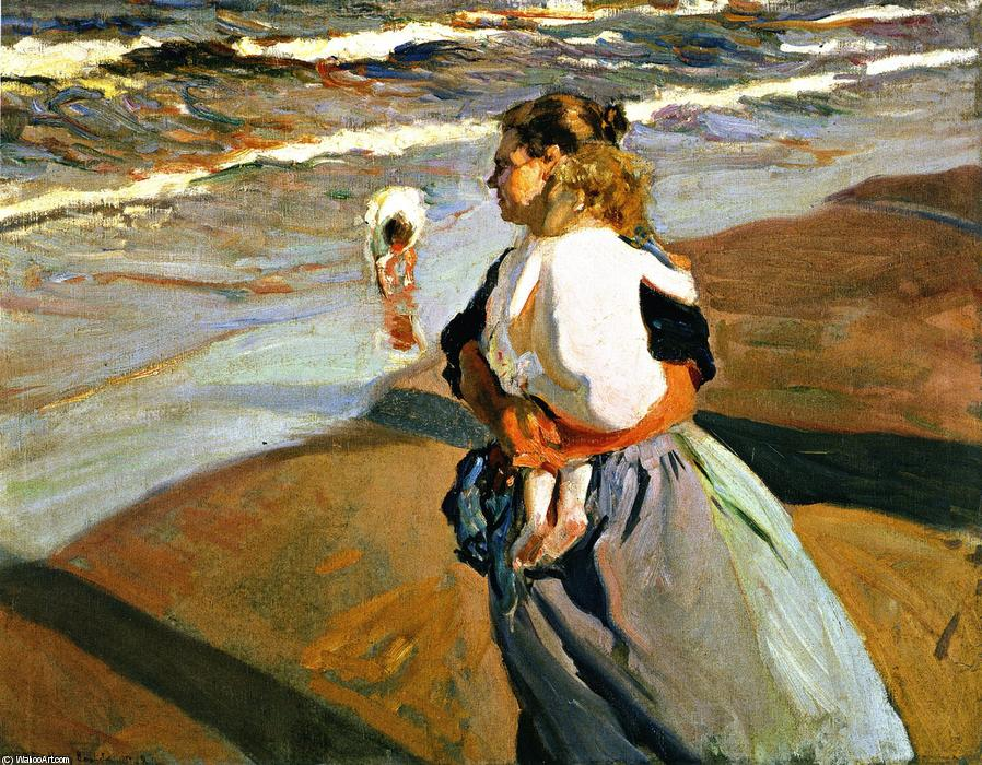 The Grandson, Oil On Canvas by Joaquin Sorolla Y Bastida (1863-1923, Spain)
