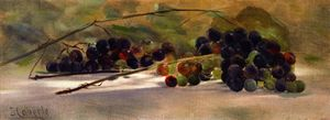 John Haberle - Grapes on a Ledge