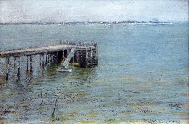Gravesend Bay (also known as The Lower Bay), Drawing by William Merritt Chase (1849-1916, United States)
