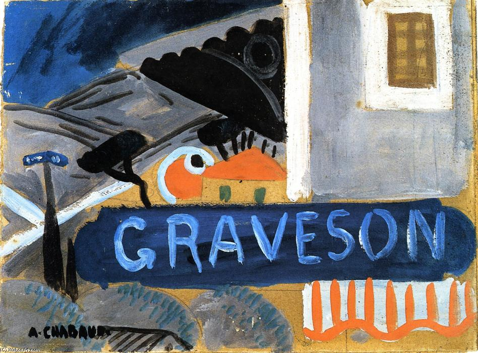 Graveson Railway Station, Oil On Panel by Auguste Chabaud (1882-1955, France)