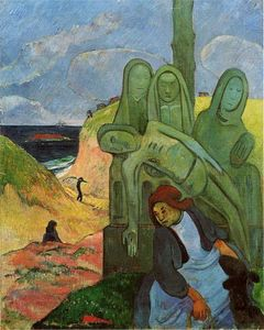 Paul Gauguin - Green Christ (also known as Breton Calvary)