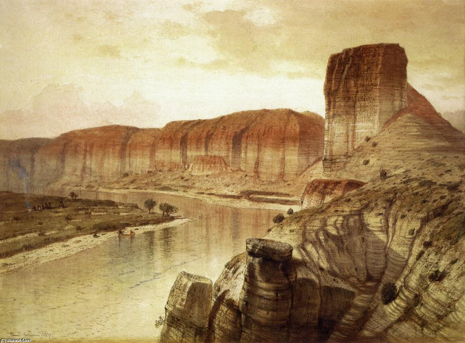 The Green River, Wyoming, Watercolour by Samuel Colman (1832-1920, United Kingdom)