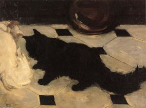 John Sloan - Green-s Cat