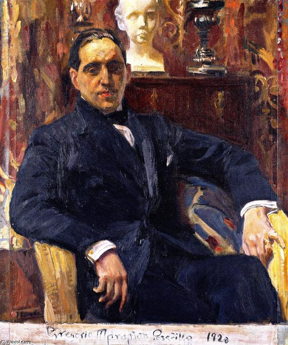 Gregorio Maranon Posadillo, Oil On Canvas by Joaquin Sorolla Y Bastida (1863-1923, Spain)