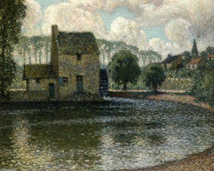 The Grey Mill, Montreuil-Bellay, Oil On Canvas by Henri Eugène Augustin Le Sidaner (1862-1939, Mauritius)