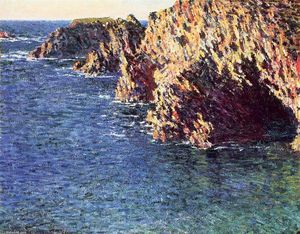 Claude Monet - The Grotto of Port-Domois