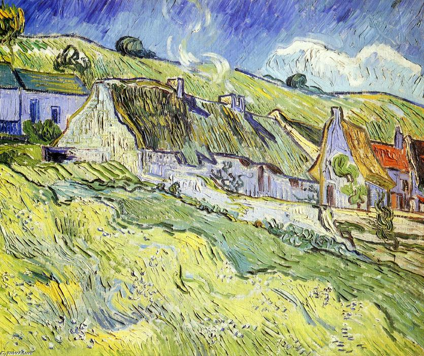 A Group of Cottages, 1890 by Vincent Van Gogh (1853-1890, Netherlands) | Museum Quality Copies Vincent Van Gogh | ArtsDot.com