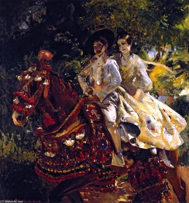 Grupa valenciana, Oil On Canvas by Joaquin Sorolla Y Bastida (1863-1923, Spain)