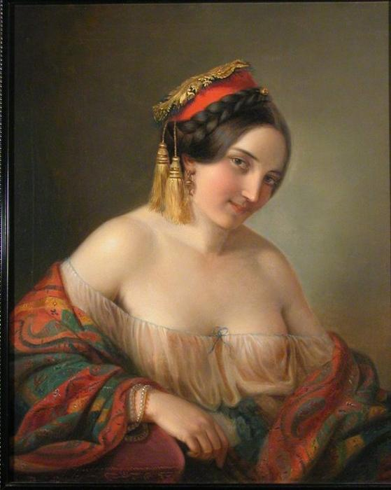 A Gypsy Girl by Friedrich Ritter Von Amerling (1803-1887) | ArtsDot.com