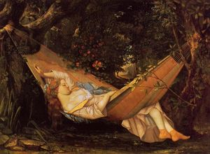 Gustave Courbet - The Hammock (also known as La Reve)
