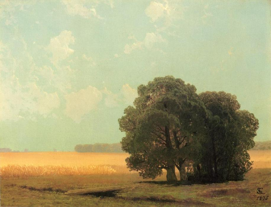 Hayfield, Newport, Rhode Island, Oil On Canvas by Samuel Colman (1832-1920, United Kingdom)