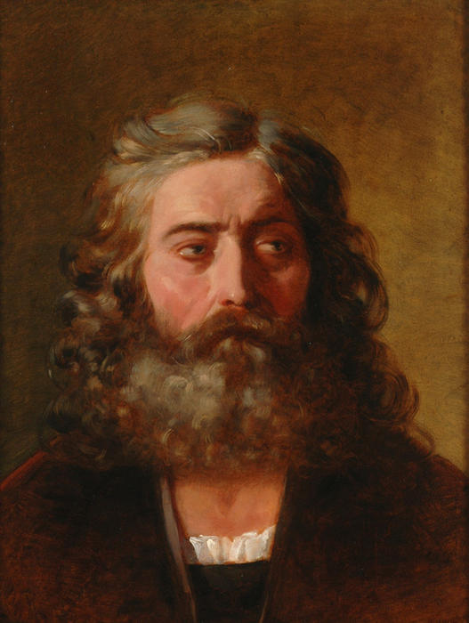 Head of a Bearded Man by Friedrich Ritter Von Amerling (1803-1887)