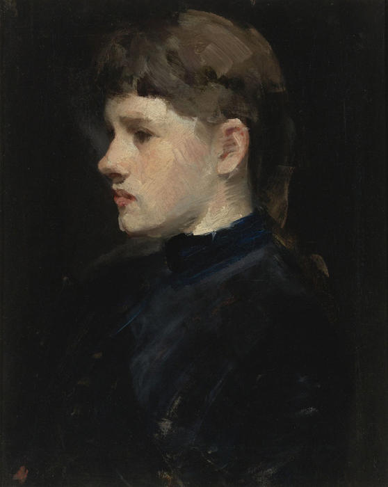 Head of a Girl by Frank Duveneck (1848-1919, United States)