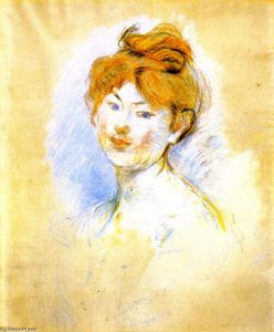 Berthe Morisot - Head of a Red-Haired Girl