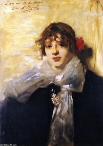 John Singer Sargent - Head of a Young Woman