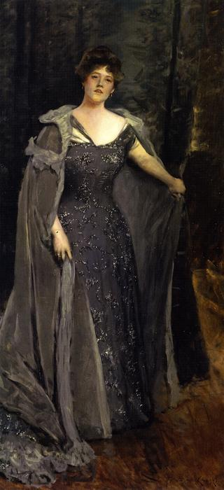 Hilda Spong, Oil On Canvas by William Merritt Chase (1849-1916, United States)