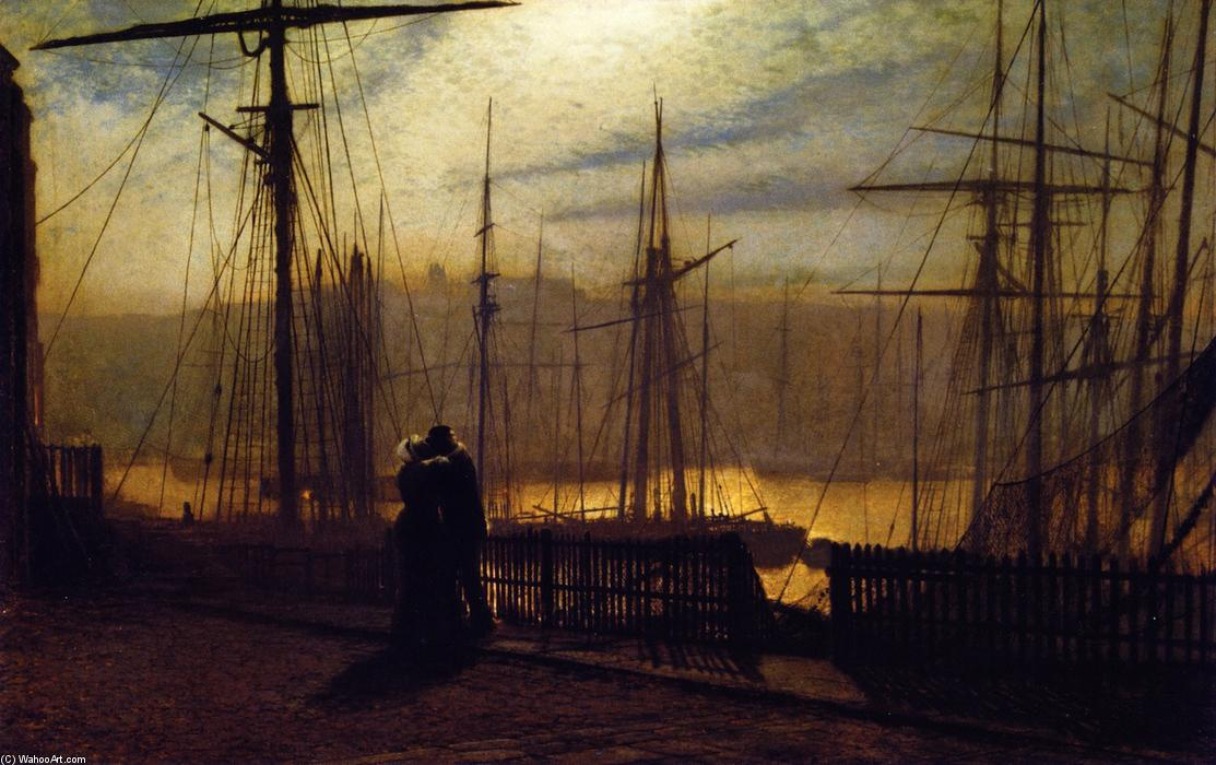 Home Again, Oil On Panel by John Atkinson Grimshaw (1836-1893, United Kingdom)
