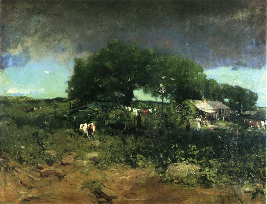 Homesteading in Tennessee, Oil On Canvas by William Gilbert Gaul (1855-1919, United States)