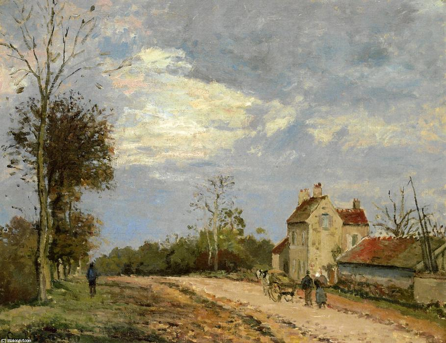 The House of Monsieur Musy, Route de Marly, Louveciennes, 1872 by Camille Pissarro (1830-1903, United States) | Paintings Reproductions Camille Pissarro | ArtsDot.com