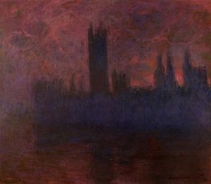 Claude Monet - Houses of Parliament, London, Symphony in Rose