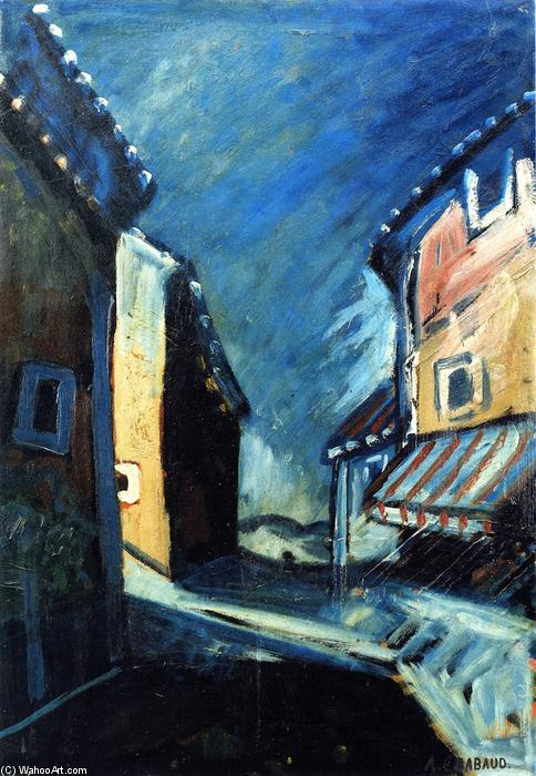 House with Painted Shade, Oil On Panel by Auguste Chabaud (1882-1955, France)