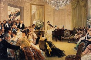 James Jacques Joseph Tissot - Hush! (also known as The Concert)