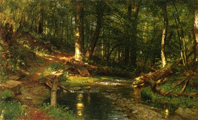 I come from Haunts of Coot and Hearn (also known as A Brook in the Woods), 1889 by Thomas Worthington Whittredge (1820-1910, United States) | Reproductions Thomas Worthington Whittredge | ArtsDot.com