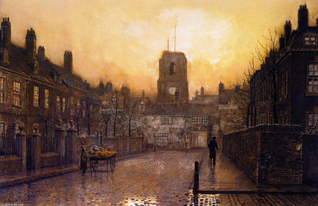 An Idyll of Old Chelsea, 1893 by John Atkinson Grimshaw (1836-1893, United Kingdom) | Art Reproduction | ArtsDot.com
