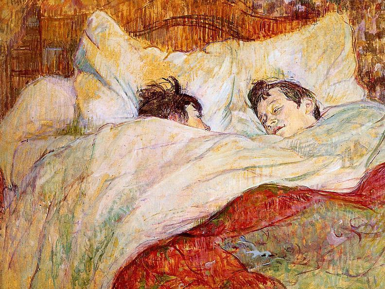 In Bed, Oil On Panel by Henri De Toulouse Lautrec (1864-1901, France)