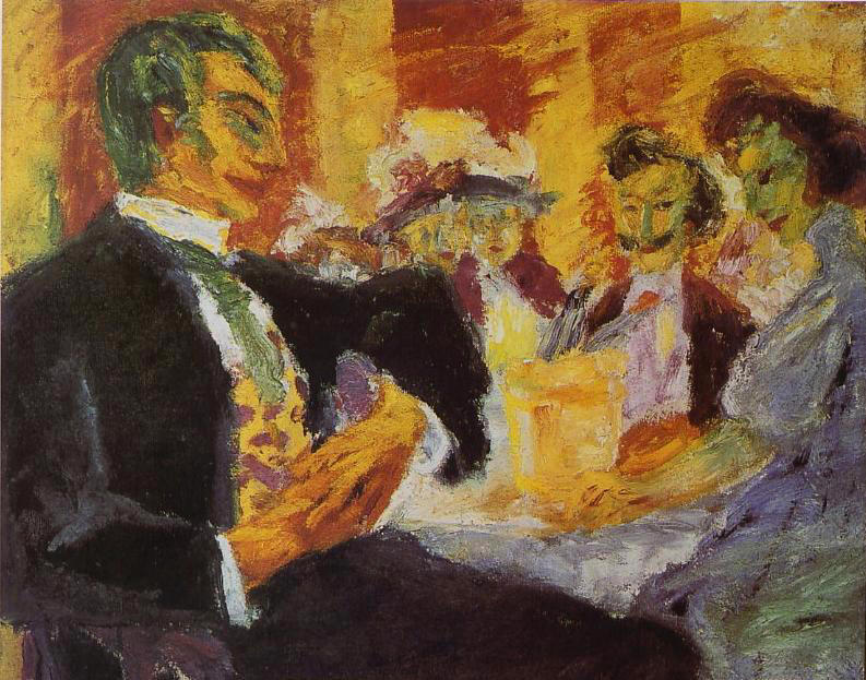 In the Café, 1911 by Emile Nolde (1867-1956, Germany) | Museum Quality Reproductions | ArtsDot.com